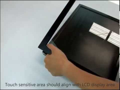 How to build cheap touchscreen using commercial touch screen conversion frame. DIY