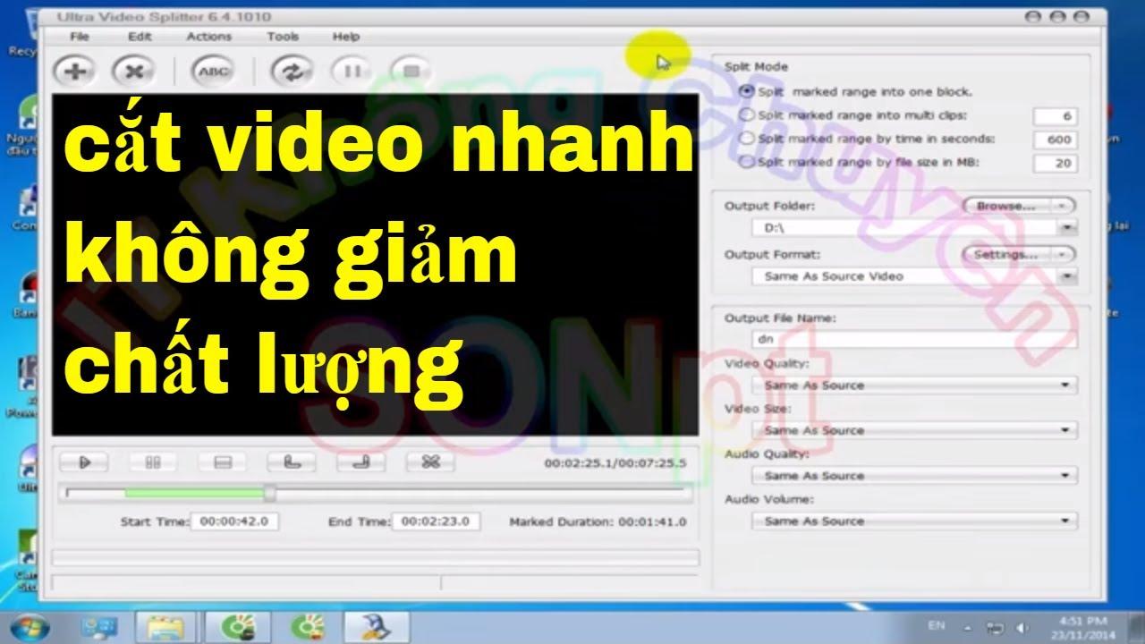 Cắt video nhanh nhất không đổi chất lượng, Ultra Video Splitter 6.4.1010 FULL | [IT Không Chuyên]
