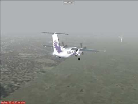 Dash-8 IFR into Shanghai