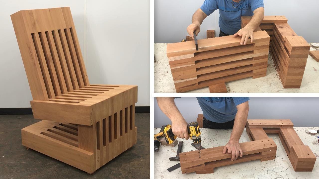 Sillón De Madera Diseño Muy Bonito Fácil De Hacer Paso A Paso Tutorial De Carpintería Youtube