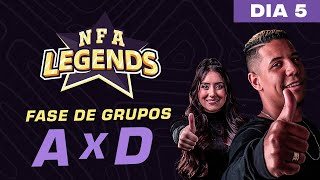 FREE FIRE AO VIVO - NFA LEGENDS SEASON 1 -  GRUPO A x D - DIA 5