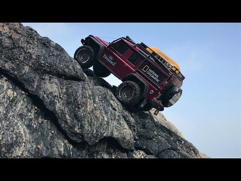 Traxxas TRX4 Defender Beach Rock Crawling_#