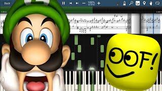 Luigi's Mansion Theme But It's Roblox Death Sound!!!