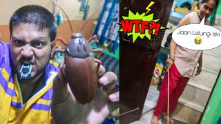 EXPENSIVE FAKE COCKROACH BROKED BY MOM😓😱 **Prank Gone Wrong**