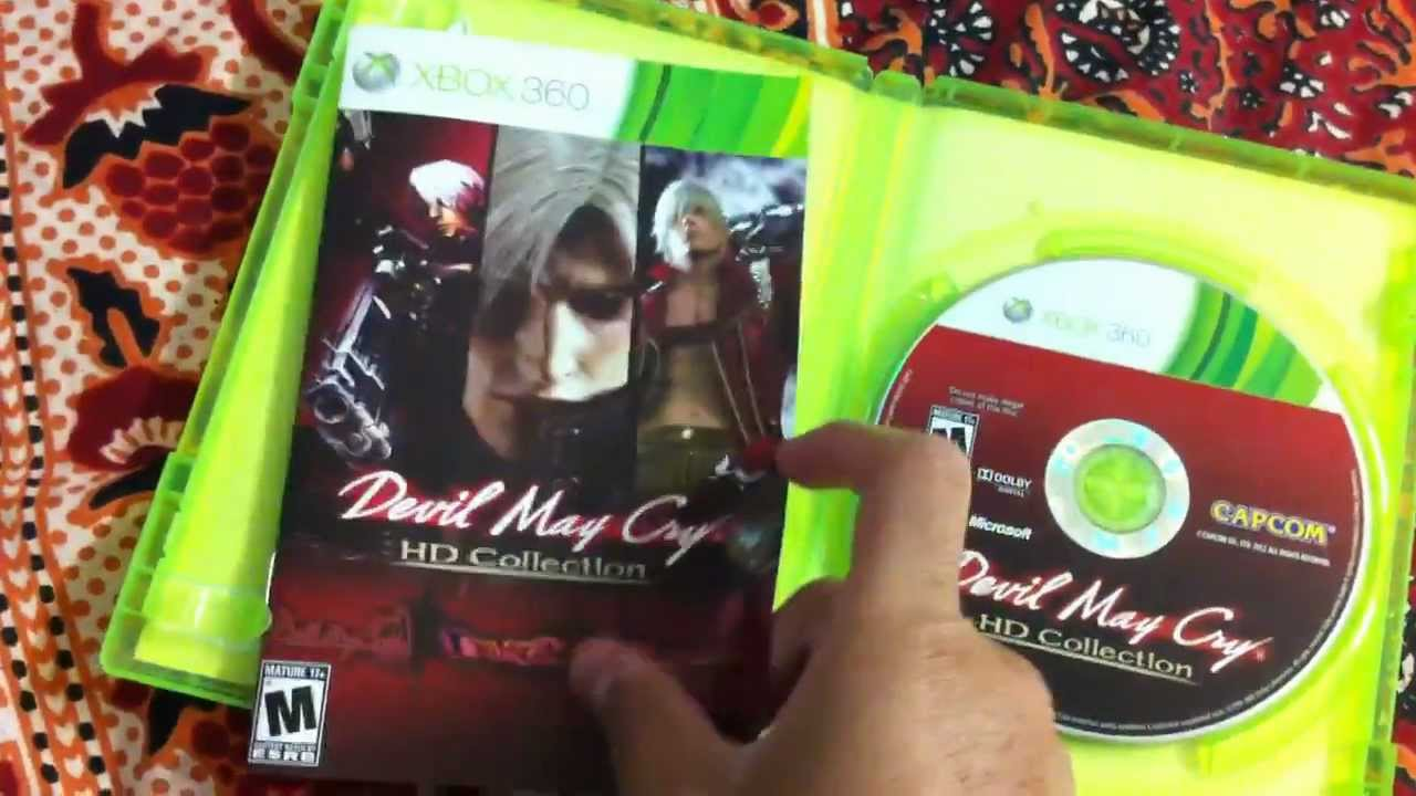 Devil May Cry Hd Collection Unboxing Xbox 360 Youtube
