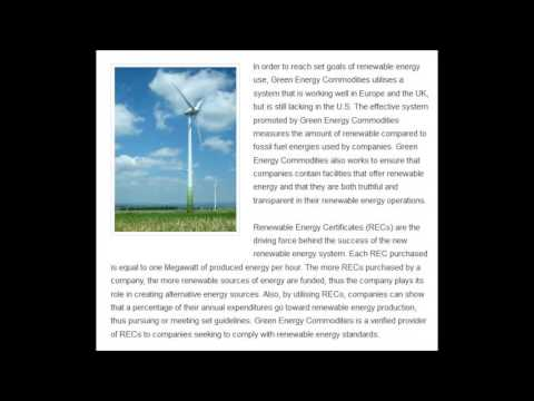Green Energy Commodities - Commodities in Europe & US