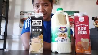Eggnog Vlog 2018: taste test from the grocery