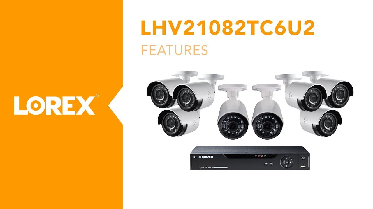 Lorex by FLIR - LHV21082TC6U2 8 Channel HD Security Camera System With  Ultra Wide Viewing