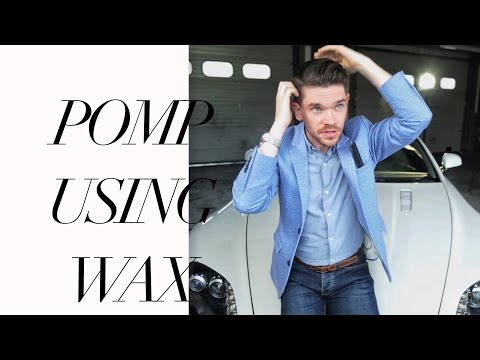 Volumised Side Pomp Using Wax | How To