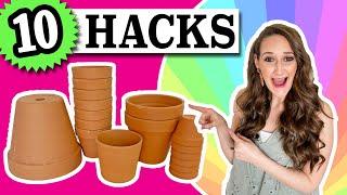 10 Terra Cotta Pot HACKS  EASY &amp CHEAP!