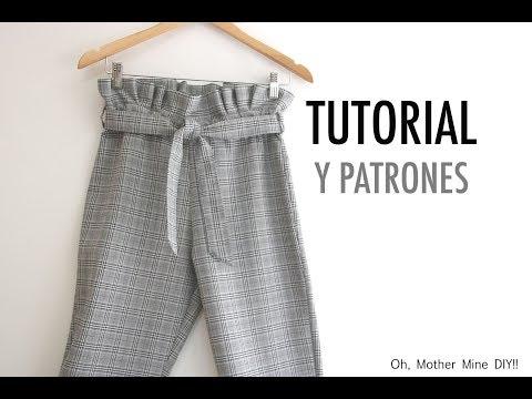 Aprender a coser: Pantalones Paper-Bag para mujer (patrones gratis)