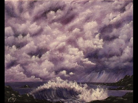 Stormy Seaside Step by Step Acrylic Painting on Canvas for Beginners