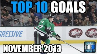 NHL TOP 10 GOALS OF THE MONTH (November 2013)