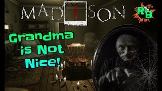 MADiSON Demo - Grandma is Mean! Indie Horror Game Playthrough | PC Game Let