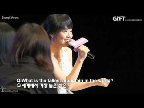 2011.07.30 Moon Geun Young Talk in 60 Seconds Corner @ Fanmeeting (eng sub)