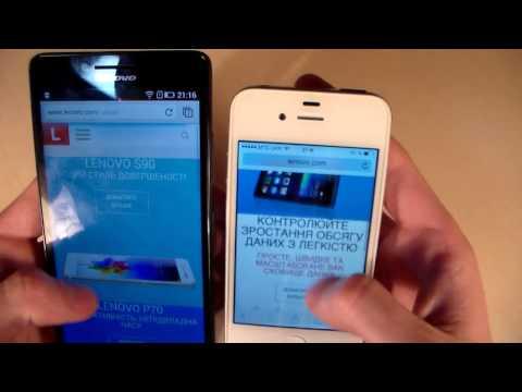 Lenovo A6000 vs iPhone 4S