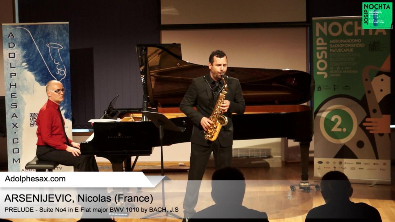 Johann Sebastian Bach – Suite No 4 in E- at major BWV 1010 Pre?lude – ARSENIJEVIC, Nicolas (France)