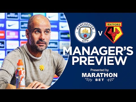 Pep Guardiola previews Man City v Watford | PRESS CONFERENCE