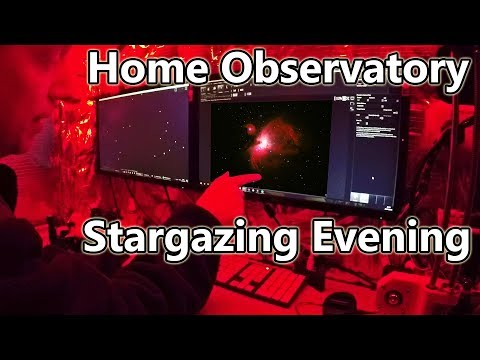 Home Observatory Night of Stargazing - Jan 2018