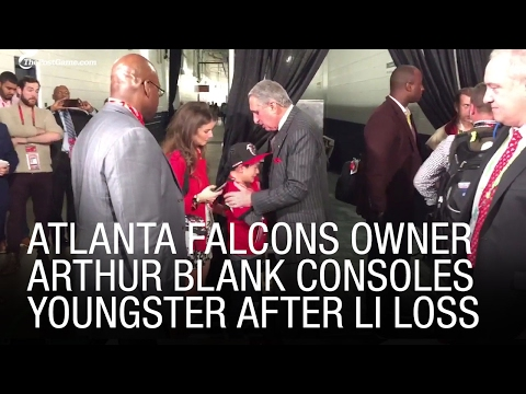 EXCLUSIVE: Atlanta Falcons Owner Arthur Blank Consoles Youngster After Super 51 Loss