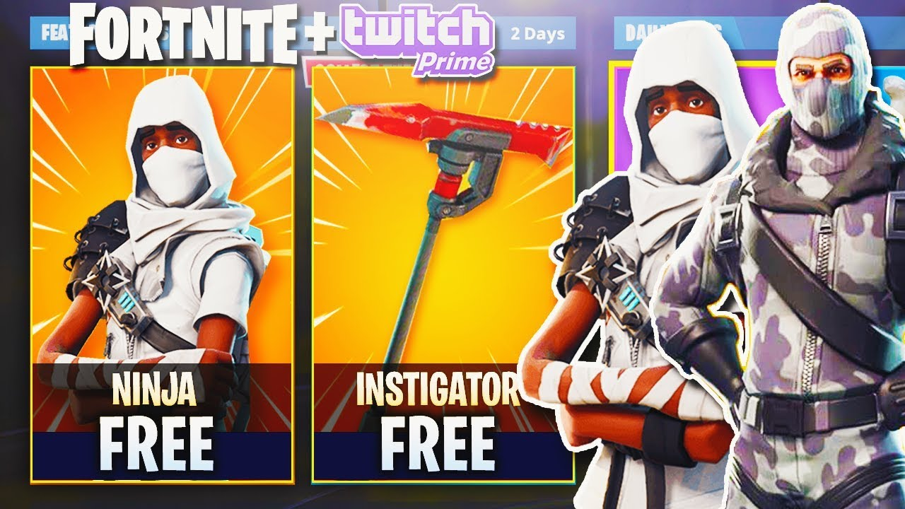 New Free Twitch Prime Skins Exclusive Unlock In Fortnite Fortnite