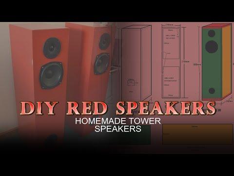 DIY Red Tower Speakers