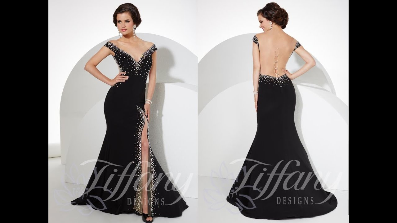 Tiffany Prom Dress 16101 from Peaches Boutique, Chicago, IL - YouTube