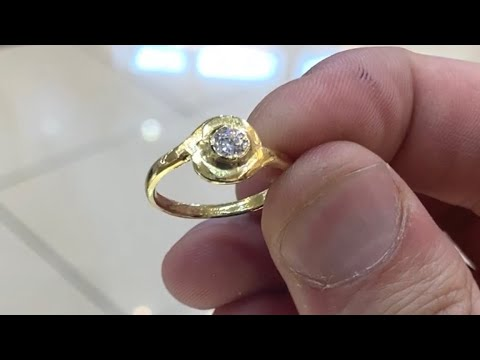 Making a Gold Ring with a Cubic Zirconia Stone | Handmade Jewelry | Making Gold Jewelry
