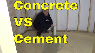 Concrete VS Cement-The Differences-BASIC Explanation