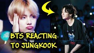 BTS reacting to JUNGKOOK