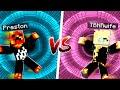 Boy vs Girl Minecraft Dropper Challenge!