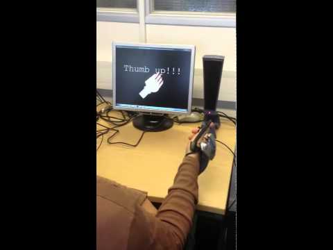 Hand and finger gesture recognition using data glove
