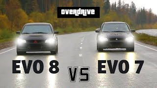 Mitsubishi evolution 7 VS Mitsubishi evolution 8    Митсубиси Эволюшен