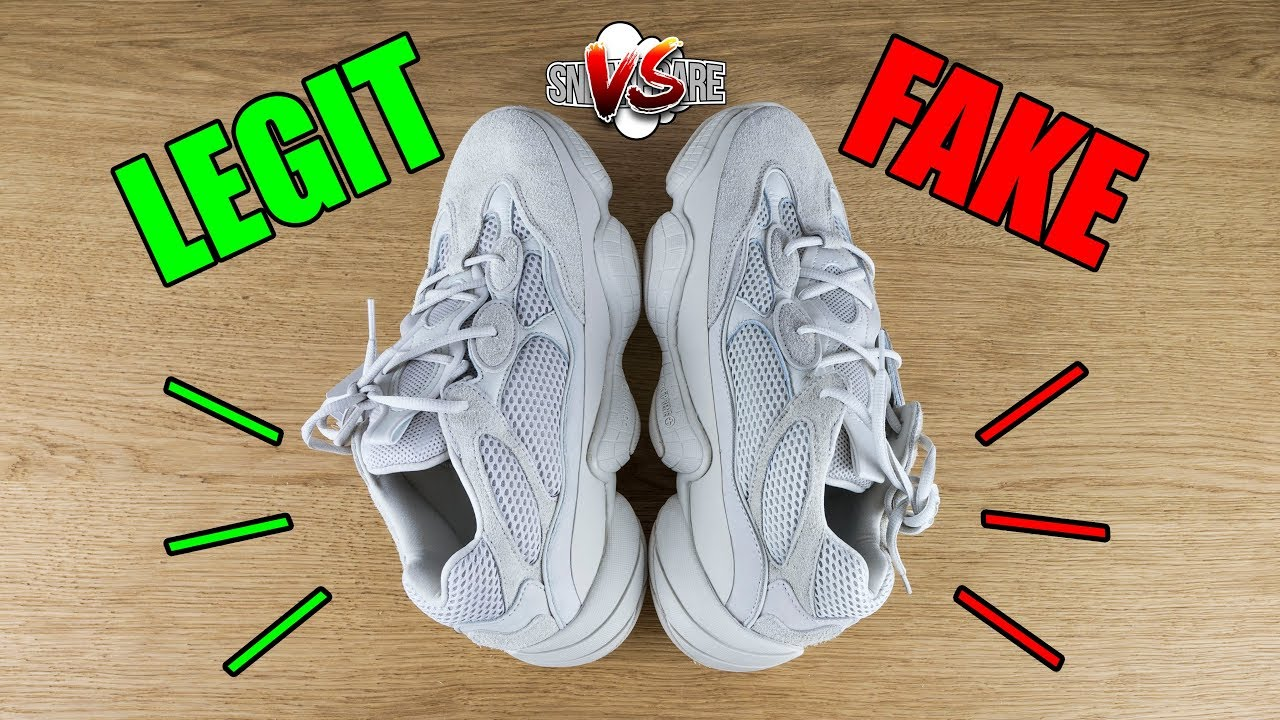 new style c00f6 a9e94 LEGIT vs FAKE Yeezy 500 Desert Rat. Originali & False