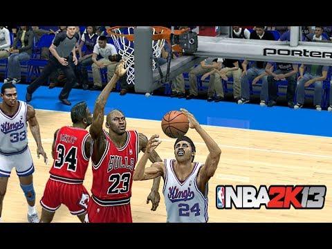 NBA 2K13 : 1988 Chicago Bulls Vs. Sacramento Kings  | 4K 60fps | PC Gameplay