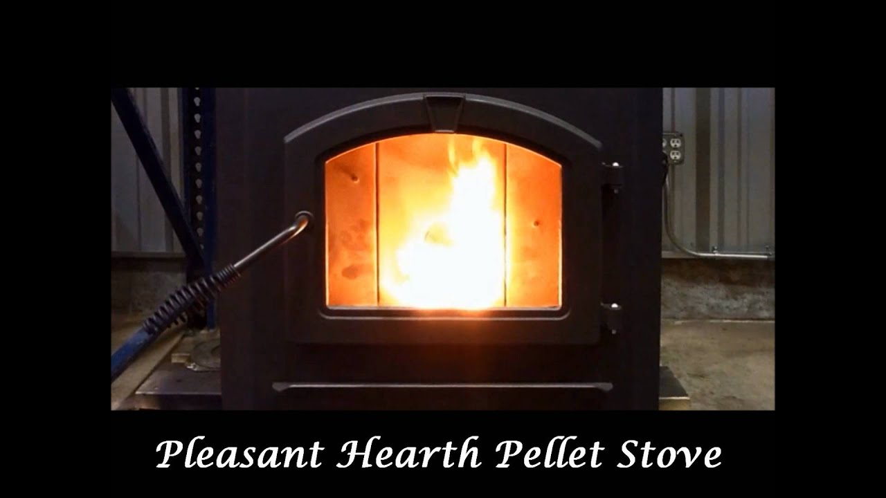 Pleasant Hearth Pellet Stove - YouTube