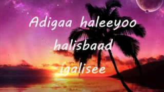 somali lyrics-song-HANI by CIID JAAMAC  batalaale new song 2010