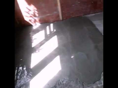Пол.Наливной пол из цемента и песка