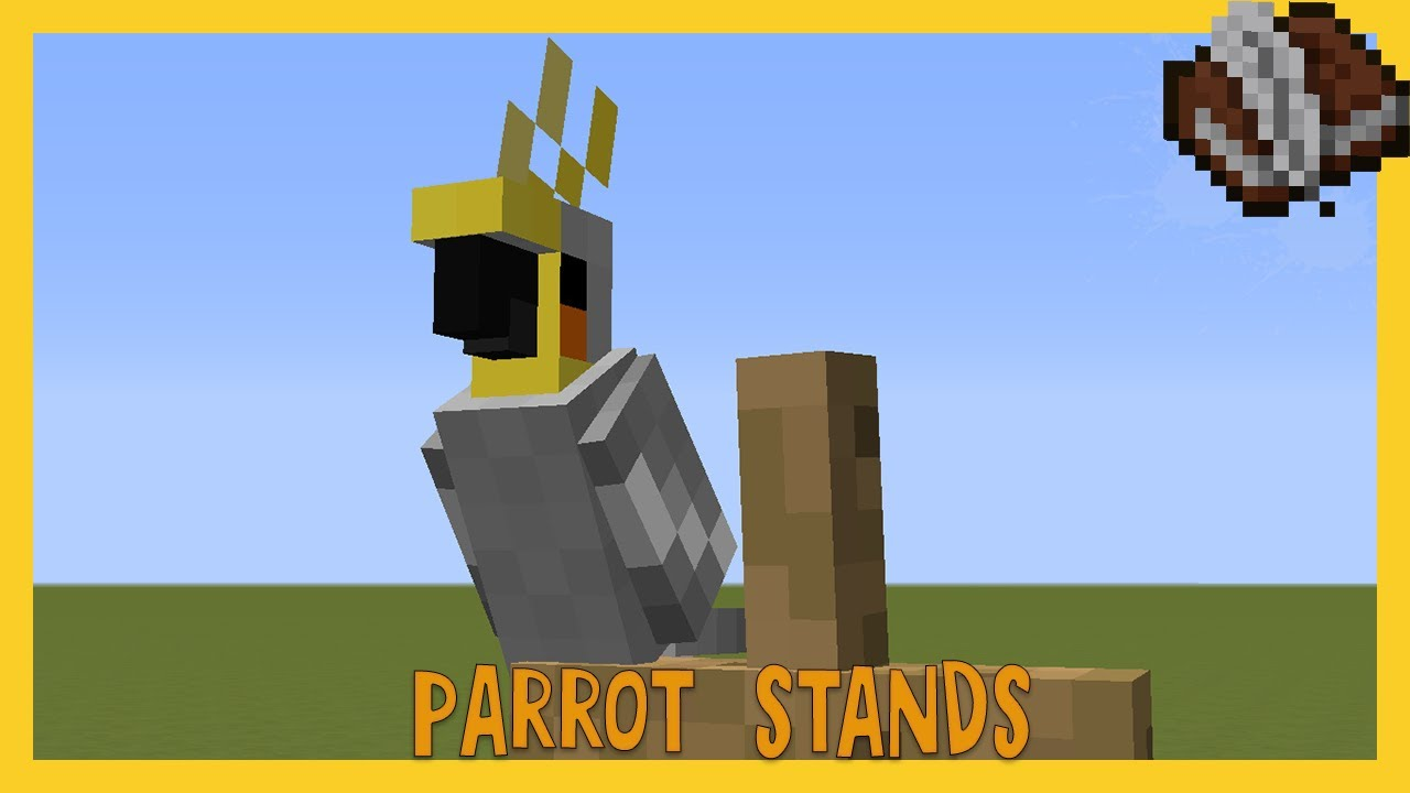 How To Make Parrot Stands In Minecraft Youtube