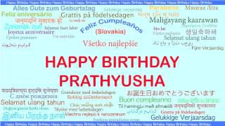 Prathyusha   Languages Idiomas - Happy Birthday