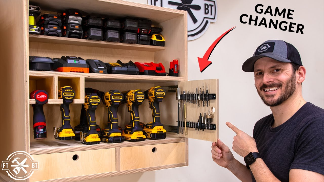 A Better DIY Drill Charging Station | Shop Organization