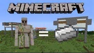(TUTO) (Minecraft Xbox/Ps3) usine à fer très simple