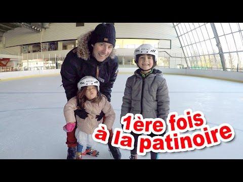 VLOG - Patinoire à glace & PATINAGE en FAMILLE - 1ère FOIS pour Amantine