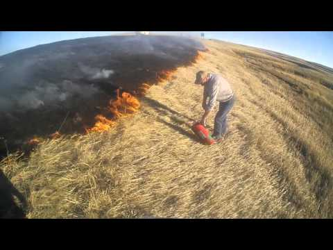 Eastern Colorado Grass Fire on I-70 - Feb 28, 2016