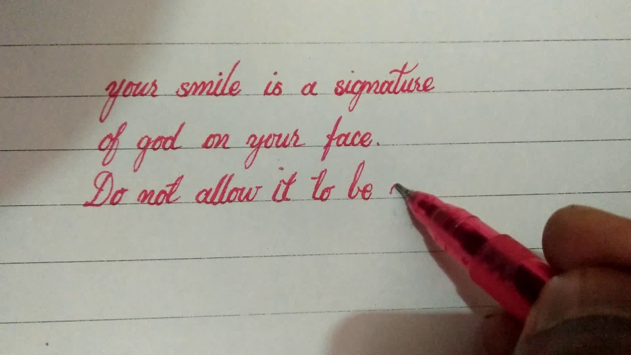 inspirational quotes in cursive writing - YouTube