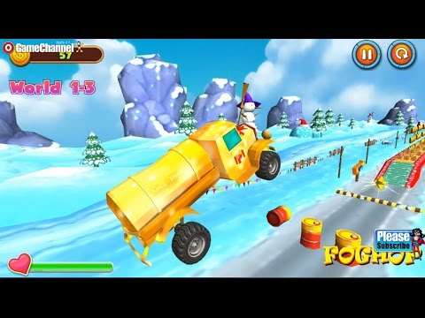 Santa Truck Ride, Real Driver Santas Car, Videos Games For Kids - Girls - Baby