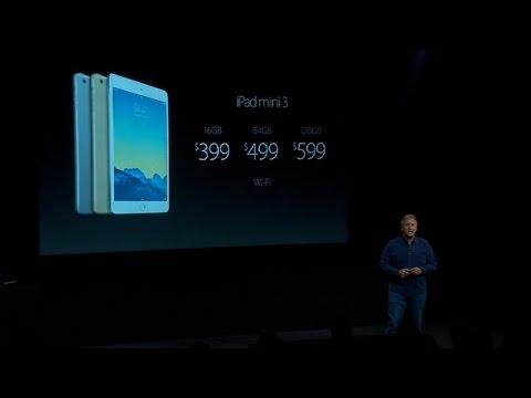 Apple reveals iPad Mini 3 in gold