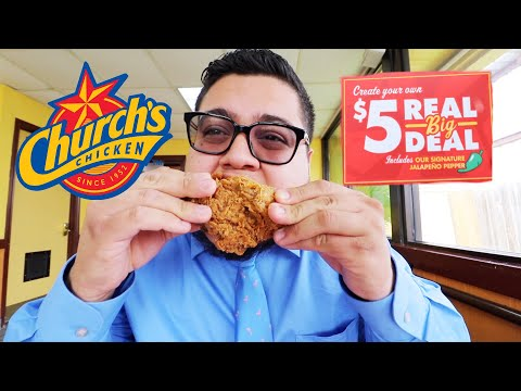 Church's Chicken $5 Real Big Deal is Back! - Fast Food Review - Full Nelson Eats A Lot