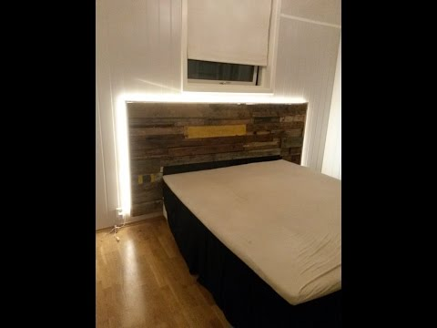 Building a driftwood headboard with LED backlights