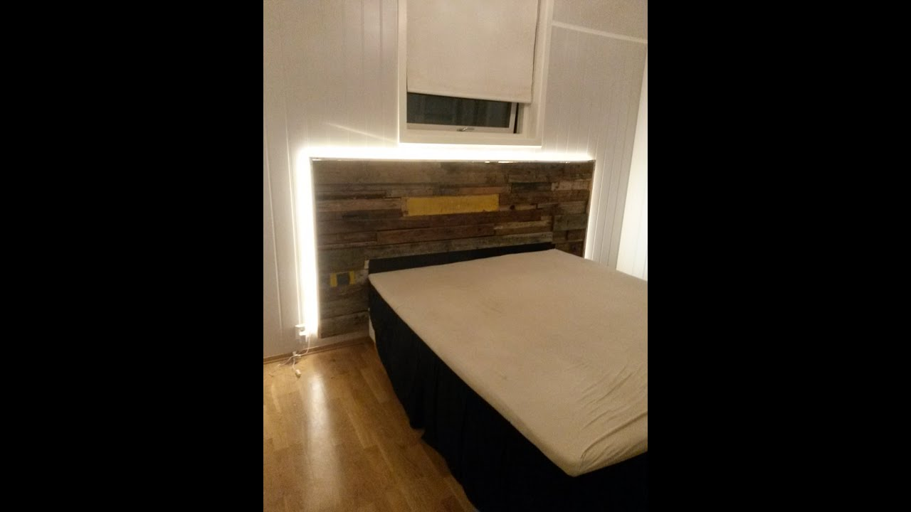 Building A Driftwood Headboard With Led Backlights Youtube